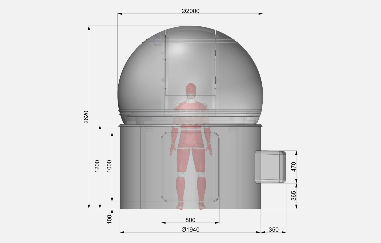 Kopuła astronomiczna ScopeDome Fi2m