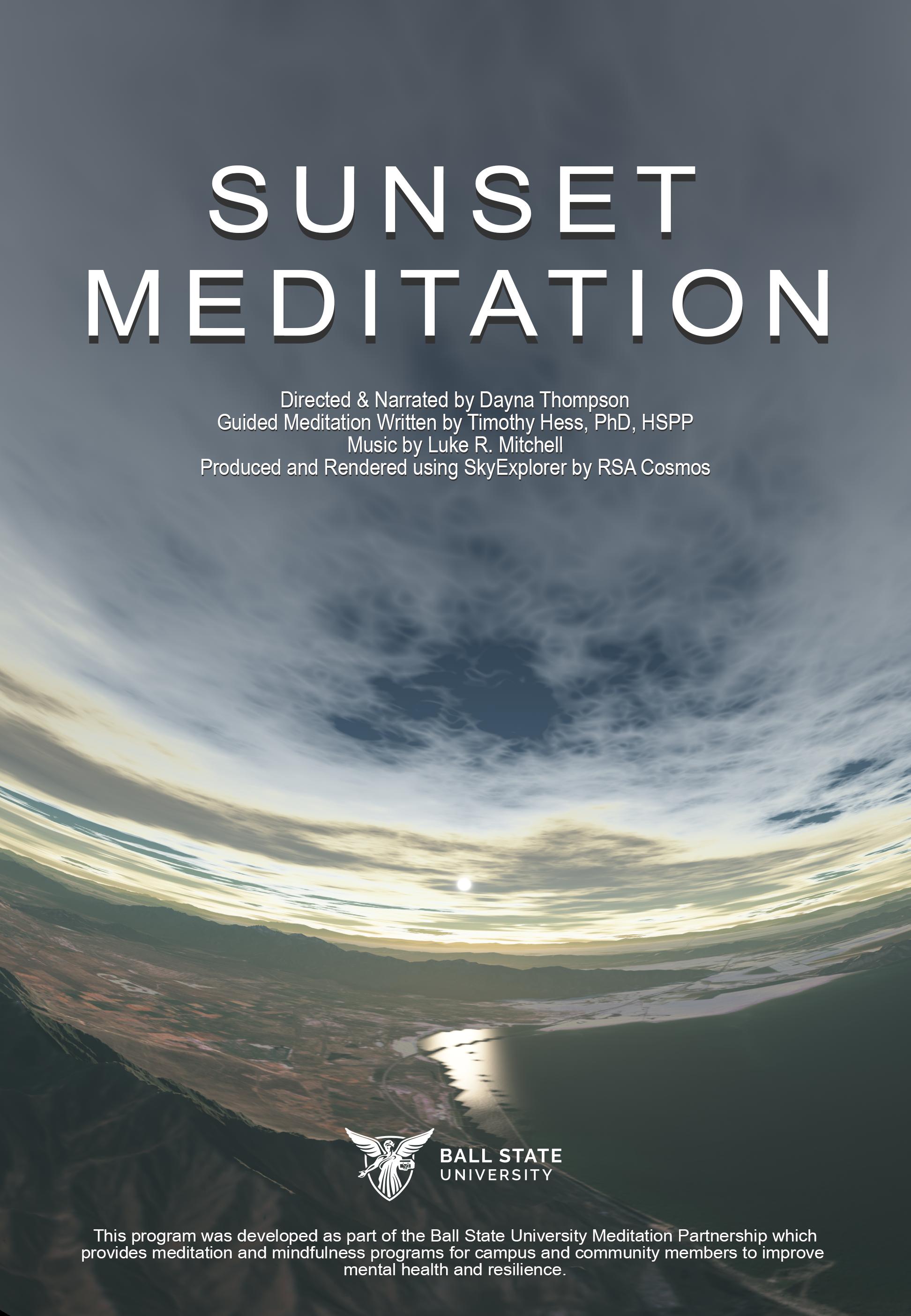 Medytacja o zachodzie słońca – EN / 2D